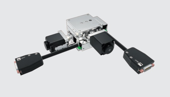 Motorized Dual-axis Linear Positioning Stage, stage size is 60x60 mm